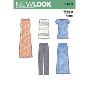 6458 Misses' Easy Knit Separates