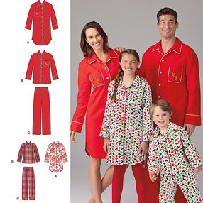 Child's, Teens' and Adults' Loungewear