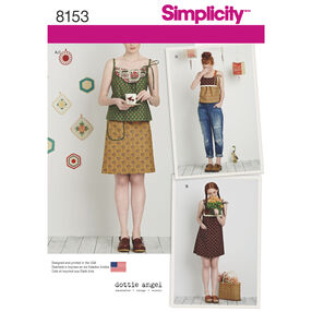 Simplicity Pattern 8153 Dottie Angel Dress, Top and Skirt