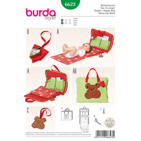 Burda Style Pattern 6623 Diaper and Nappy Bag