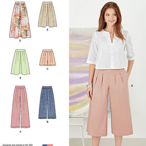 Pattern 8092 Misses' Skirts, Pants, Culottes and Shorts