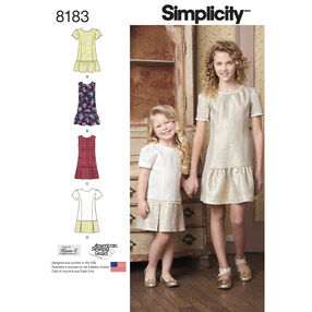 Pattern 8183 Child's and Girls' Dress or Jumper with Skirt Variations