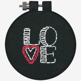 Love on Black in Embroidery_72-74092