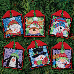 Christmas Pals Ornaments, Counted Cross Stitch_70-08842