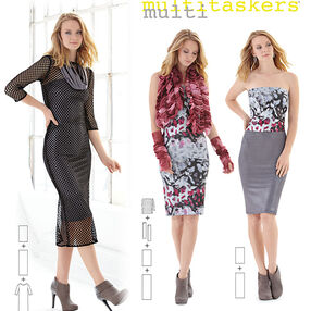 Misses' Easy Knit Pieces. Multitaskers Collection.