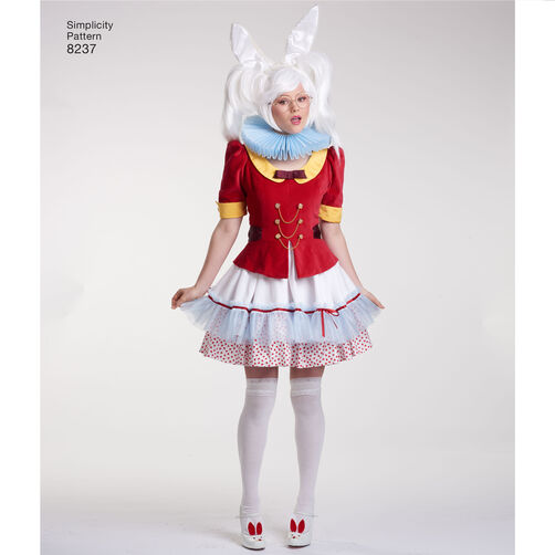 Simplicity Pattern 8237 Misses Alice In Wonderland