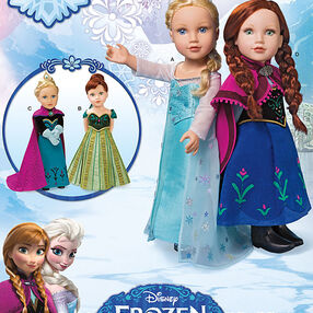 "Frozen Costumes for 18"" Doll"