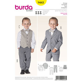 Burda Style Pattern 9443 Evening Wear