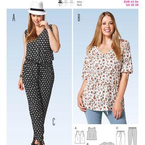 Burda Style Pattern 6789 Plus to size 60 (34)