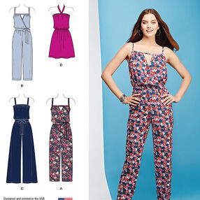 Misses' Easy Dress and Jumpsuits