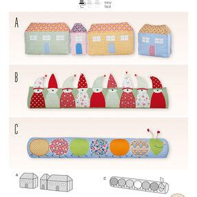 Burda Style Pattern 6882 Creative, Doll Clothes, Accessories