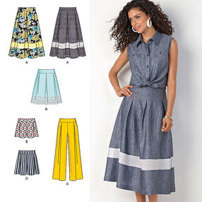 Misses' Skirts, Shorts and Wide Leg Pants