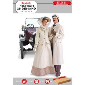 EA258101 Premium Print on Demand Costume Pattern
