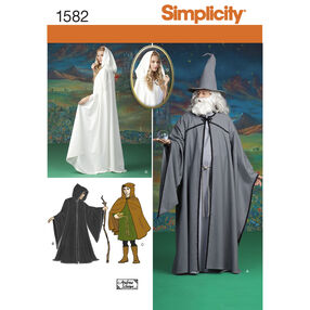 Simplicity Pattern 1582 Misses, Men and Teen Costumes