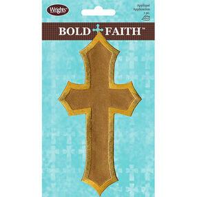 Satin Cross Iron-On Applique