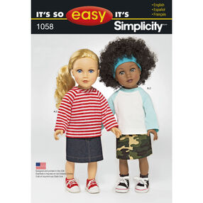It's So Easy Pattern 1058 18 inch Doll Clothes