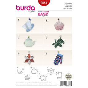 Burda Style Pattern 6884 Creative, Doll Clothes, Accessories