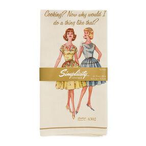 Simplicity Vintage Cooking Tea Towel