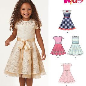 Child's Dresses with Lace and Trim Details