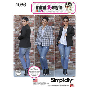 Simplicity Pattern 1066 Misses' Lined Jacket Mimi G Collection
