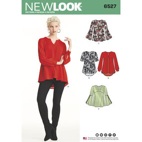 New Look Pattern 6527 Misses' Tunic in Two Lengths