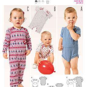 B9384 Babie's Bodysuit and Rompers