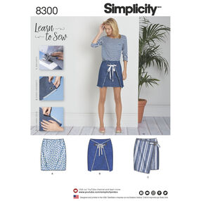 Simplicity Pattern 8300 Misses' Skirts with Front Variations