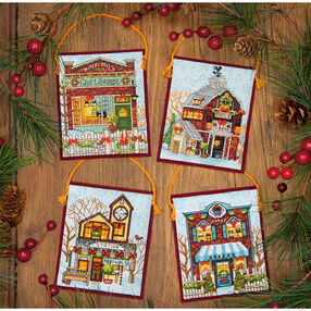 Winter Village Ornaments, Counted Cross Stitch_70-08954