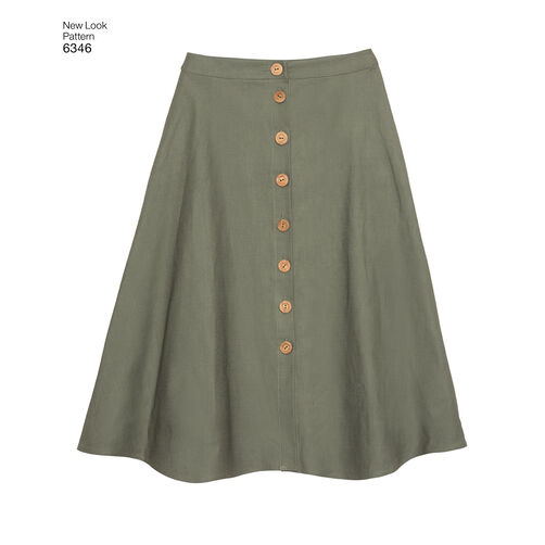 Pattern for Misses' Easy Skirts in Three Lengths