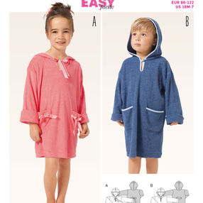 Burda Style Pattern 9381 Children's Bathrobe