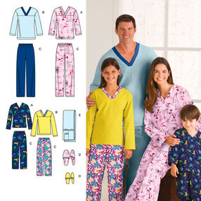 Child's, Teens' & Adults' Sleepwear