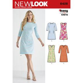 Pattern 6428 Misses' Knit Dresses