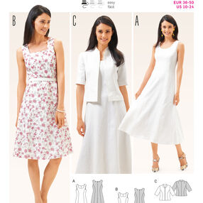 B6687 Women's Dress and  Jacket