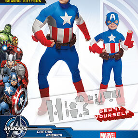Boys' and Men's Captain America Costume