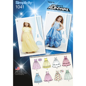Simplicity Pattern 1041 Child's Project Runway Dress and Bolero