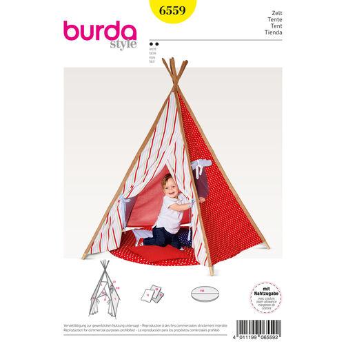burda style pattern b6559 tipi tent. Black Bedroom Furniture Sets. Home Design Ideas