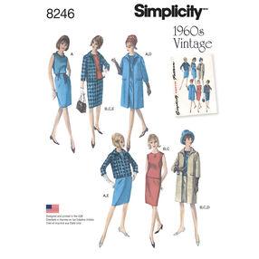 Simplicity Pattern 8246 Misses' 1960s Vintage Sportswear