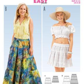 B6666 Misses' Skirt