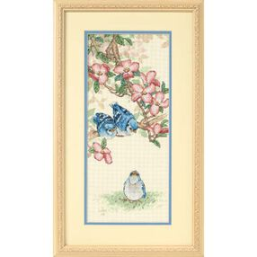 Baby Blue Jays, Counted Cross Stitch_13728