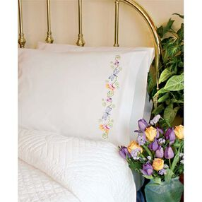 Whimsical Butterflies Pillow Cases, Embroidery_73361