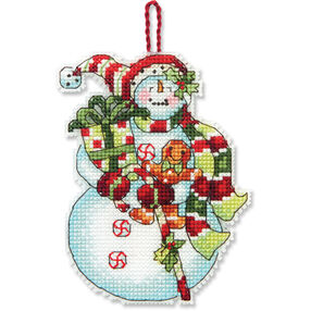 Snowman with Sweets Ornament, Counted Cross Stitch_70-08915