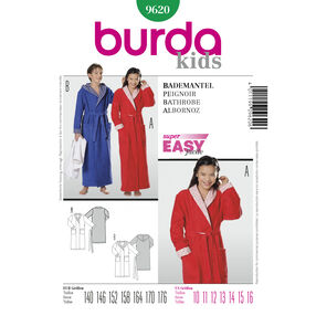 Burda Style Pattern 9620 Bathrobe