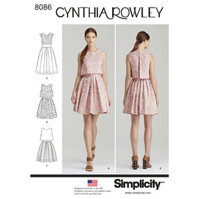 Simplicity Pattern 8086 Misses' Dress by Cynthia Rowley