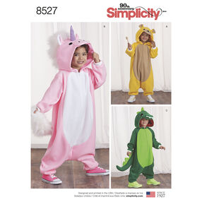 Simplicity Pattern 8527 Child's Animal Jumpsuit Costumes