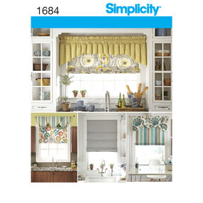 Simplicity Pattern 1684 Roman Shades and Valances