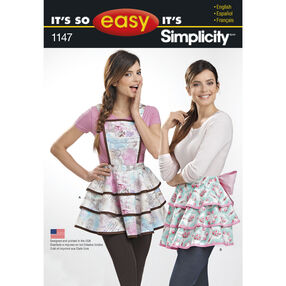 Simplicity Pattern 1147 Aprons for Misses