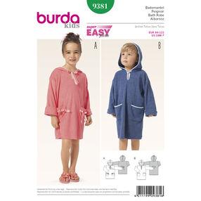 Burda Style Pattern 9381 Children's Bathrobe