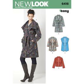 Misses' Coat, Jacket or Vest