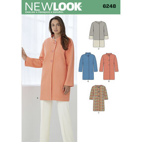 Misses' Coat with Two Sleeve Lengths