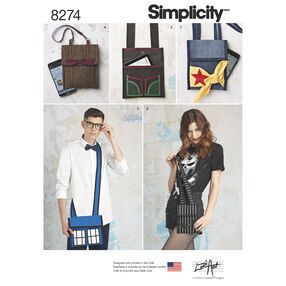Simplicity Pattern 8274 Misses' Character Inspired Bags from Lori Ann Costume Designs